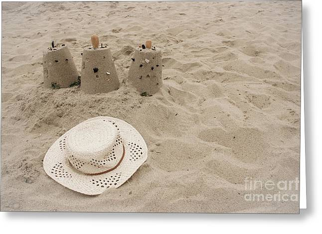 Straw Hat On The Beach Greeting Card by Colleen Kammerer