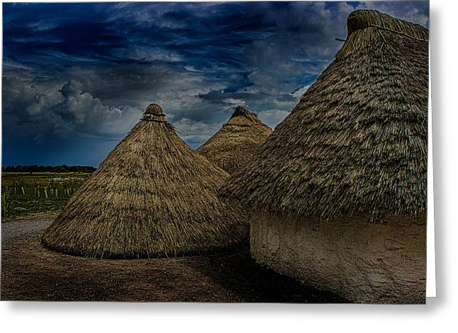 Straw Huts Greeting Card by Martin Newman