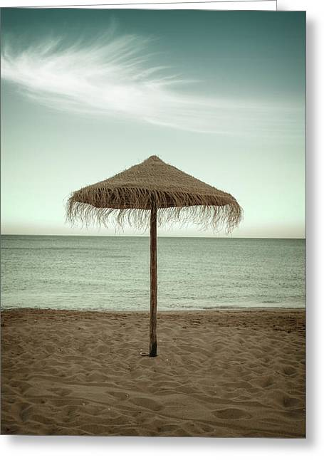 Greeting Card featuring the photograph Straw Shader by Carlos Caetano