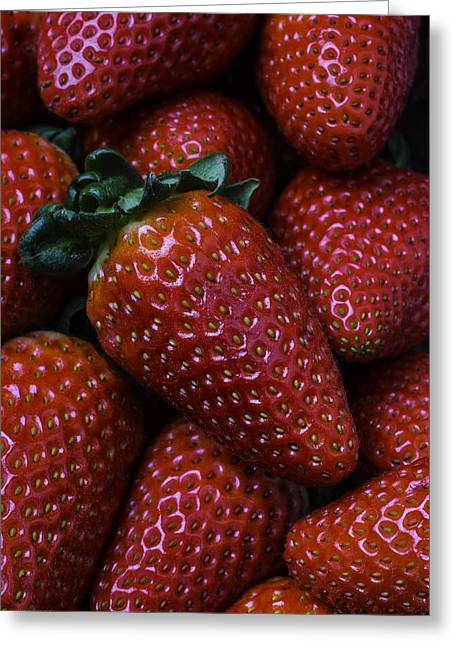 Strawberries Greeting Card by Garry Gay