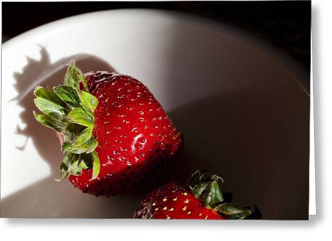Strawberries In The Late Afternoon Light Greeting Card by Robert Ullmann