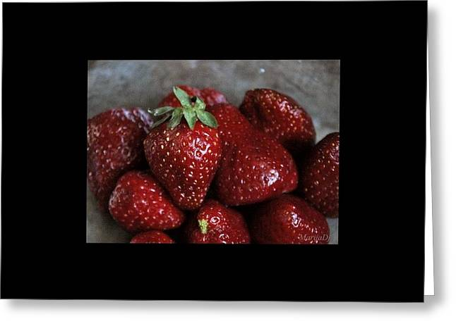 Strawberries Greeting Card by Marija Djedovic