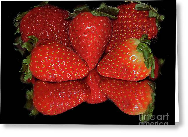 Greeting Card featuring the photograph Strawberry by Elvira Ladocki