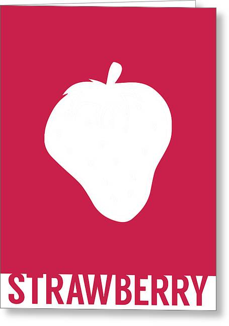 Strawberry Food Art Minimalist Fruit Poster Series 005 Greeting Card by Design Turnpike