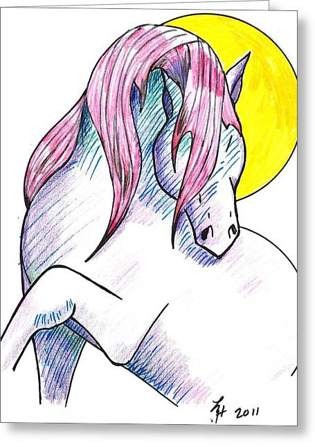 Strawberry Horse Greeting Card