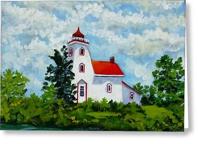 Strawberry Island Lighthouse, Manitoulin Island Greeting Card