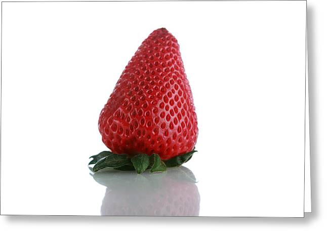 Strawberry Isolated On White Greeting Card