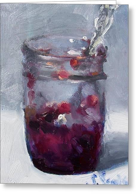 Strawberry Jam Greeting Card by Susan Jenkins