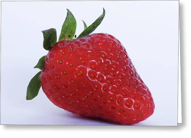 Strawberry Greeting Card by Julia Wilcox
