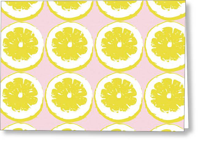 Strawberry Lemonade- Art By Linda Woods Greeting Card