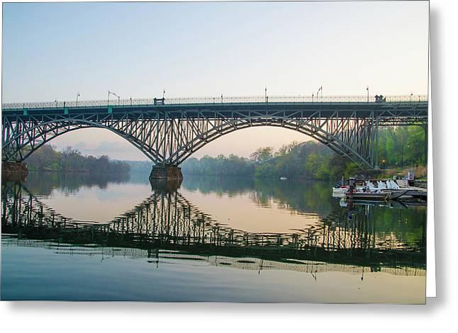 Strawberry Mansion Bridge In Spring Greeting Card