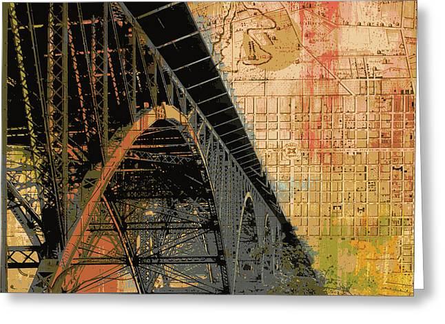 Strawberry Mansion Bridge Philadelphia Pa Greeting Card by Brandi Fitzgerald