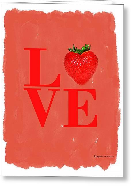 Strawberry Greeting Card by Mark Rogan
