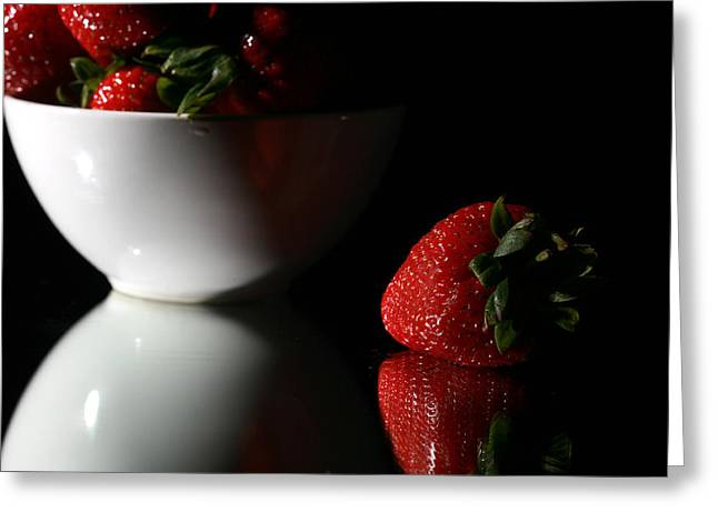 Strawberry Greeting Card by Michael Ledray
