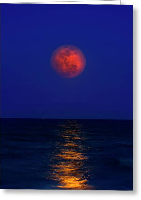 Strawberry Moon Greeting Card