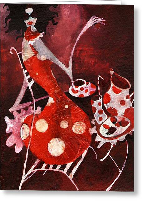 Strawberry Shake Greeting Card