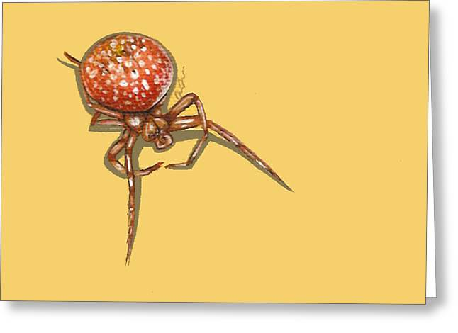 Strawberry Spider Greeting Card