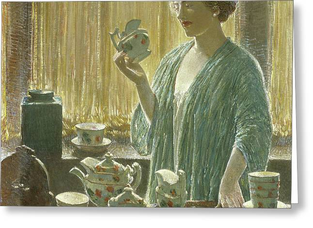 Strawberry Tea Set, 1912 Greeting Card