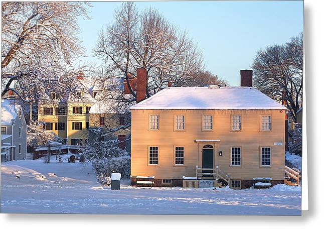 Strawbery Banke In Portsmouth Greeting Card by Eric Gendron