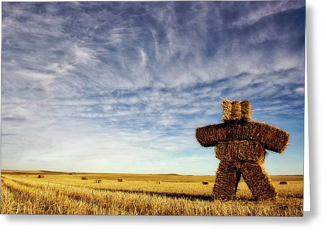 Strawman On The Prairies Greeting Card