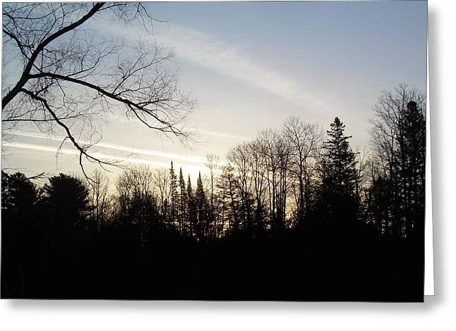 Streaks Of Clouds In The Dawn Sky Greeting Card by Kent Lorentzen