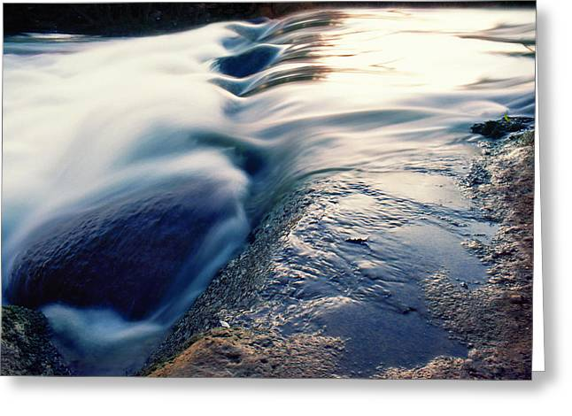 Greeting Card featuring the photograph Stream 4 by Dubi Roman