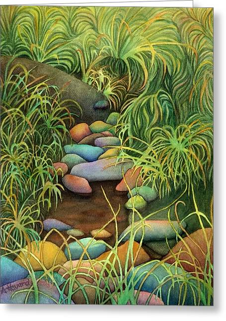 Stream Greeting Card by Anne Havard