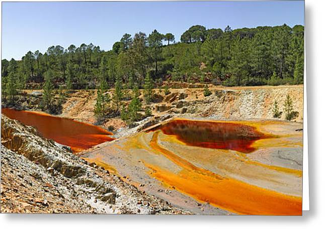 Stream Close To Abandoned Mine, Pena De Greeting Card