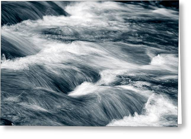 Stream Flow Greeting Card by Les Cunliffe