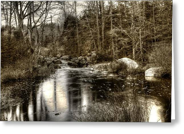 Greeting Card featuring the photograph Stream I by Greg DeBeck