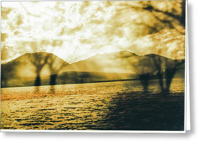 Streaming Above The Water Greeting Card by Paul Shefferly