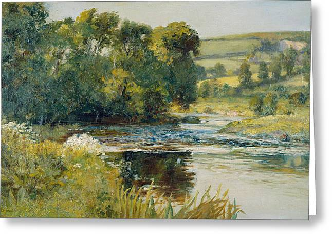 Streamside Greeting Card by Edward Mitchell Bannister