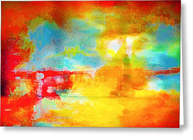 Street Abstract Greeting Card by Tom Gowanlock