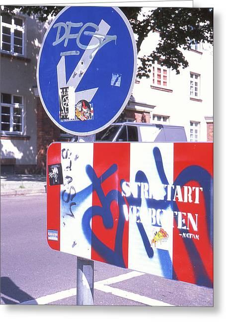 Street Art In Street Sign Greeting Card