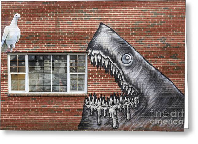 Street Art Portsmouth New Hampshire Greeting Card