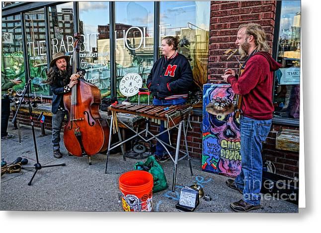 Street Band Greeting Card