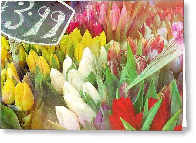Street Bouquets Greeting Card by JAMART Photography