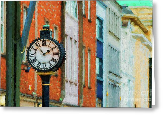 Street Clock In Cork Greeting Card