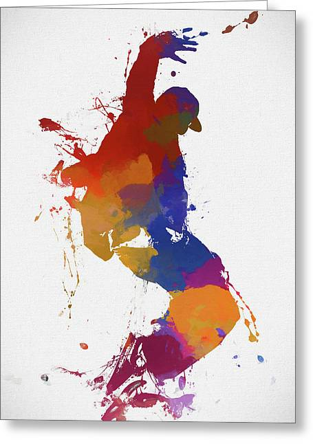 Street Dancer Greeting Card