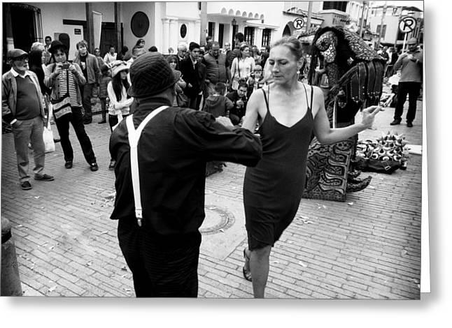 Street Dancing Greeting Card by Daniel Gomez