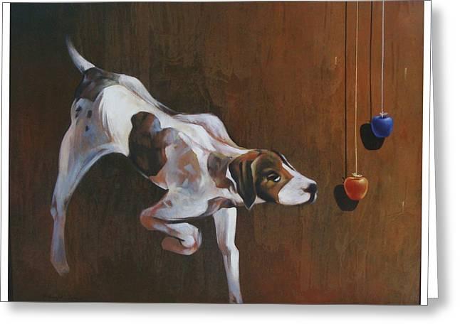 Street Dog Greeting Card by Bishwajit Das