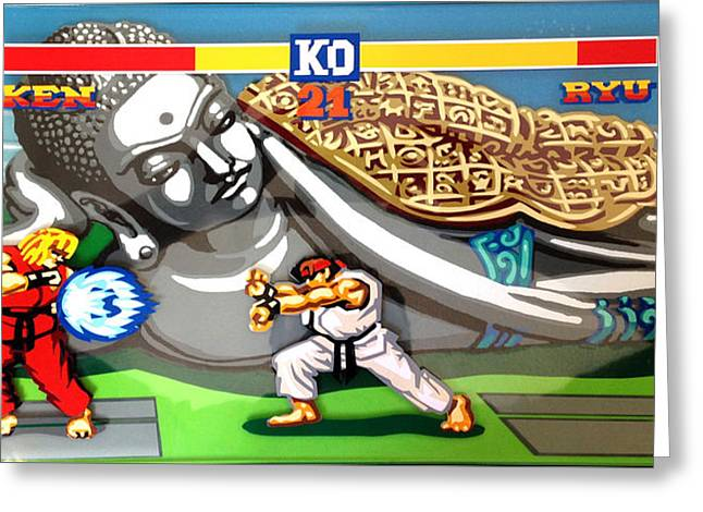 Street Fighter Tv Greeting Card