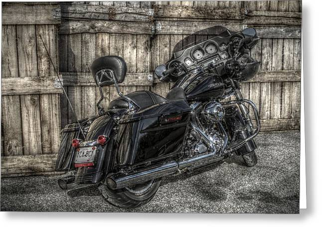 Street Glide Crated 2 Greeting Card by Bennie McLendon
