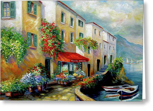 Street In Italy By The Sea Greeting Card