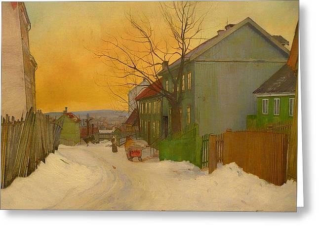 Street In Oslo Greeting Card
