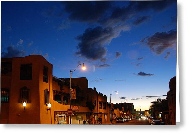 Street In Santa Fe Greeting Card