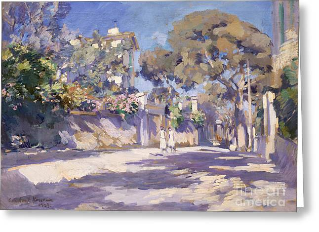 Street In The South Of France Greeting Card by Celestial Images