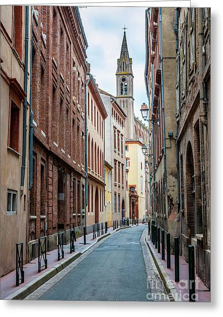 Greeting Card featuring the photograph Street In Toulouse by Elena Elisseeva
