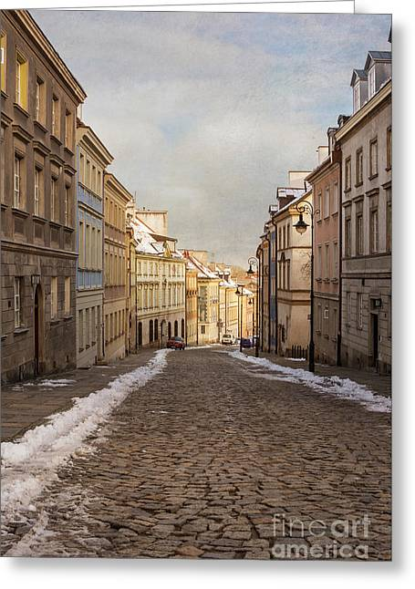 Greeting Card featuring the photograph Street In Warsaw, Poland by Juli Scalzi