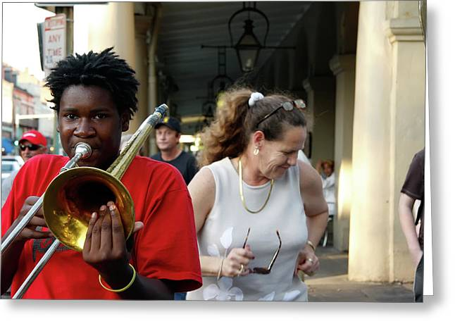 Greeting Card featuring the photograph Street Jazz by KG Thienemann